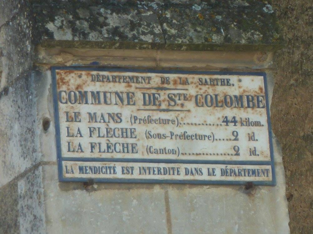 La Flèche, rue Sainte Colombe - Plaque de cocher - Le Mans - La Flèche (Loïc Prémartin)