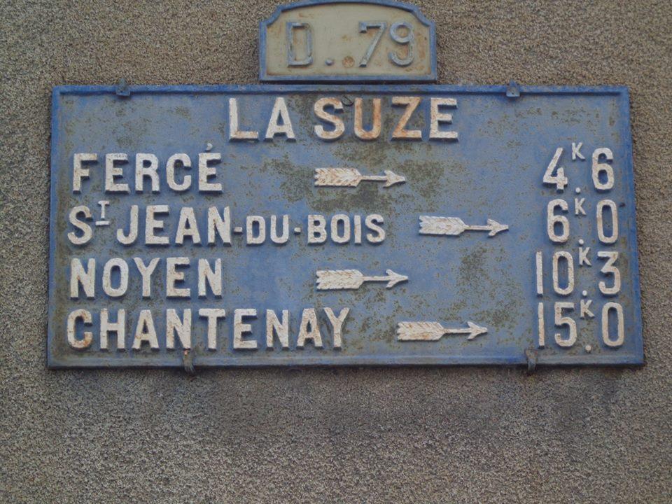 La Suze sur Sarthe - Plaque de cocher - Fercé - Saint Jean du Bois - Noyen - Chantenay (Marie-Yvonne Mersanne)