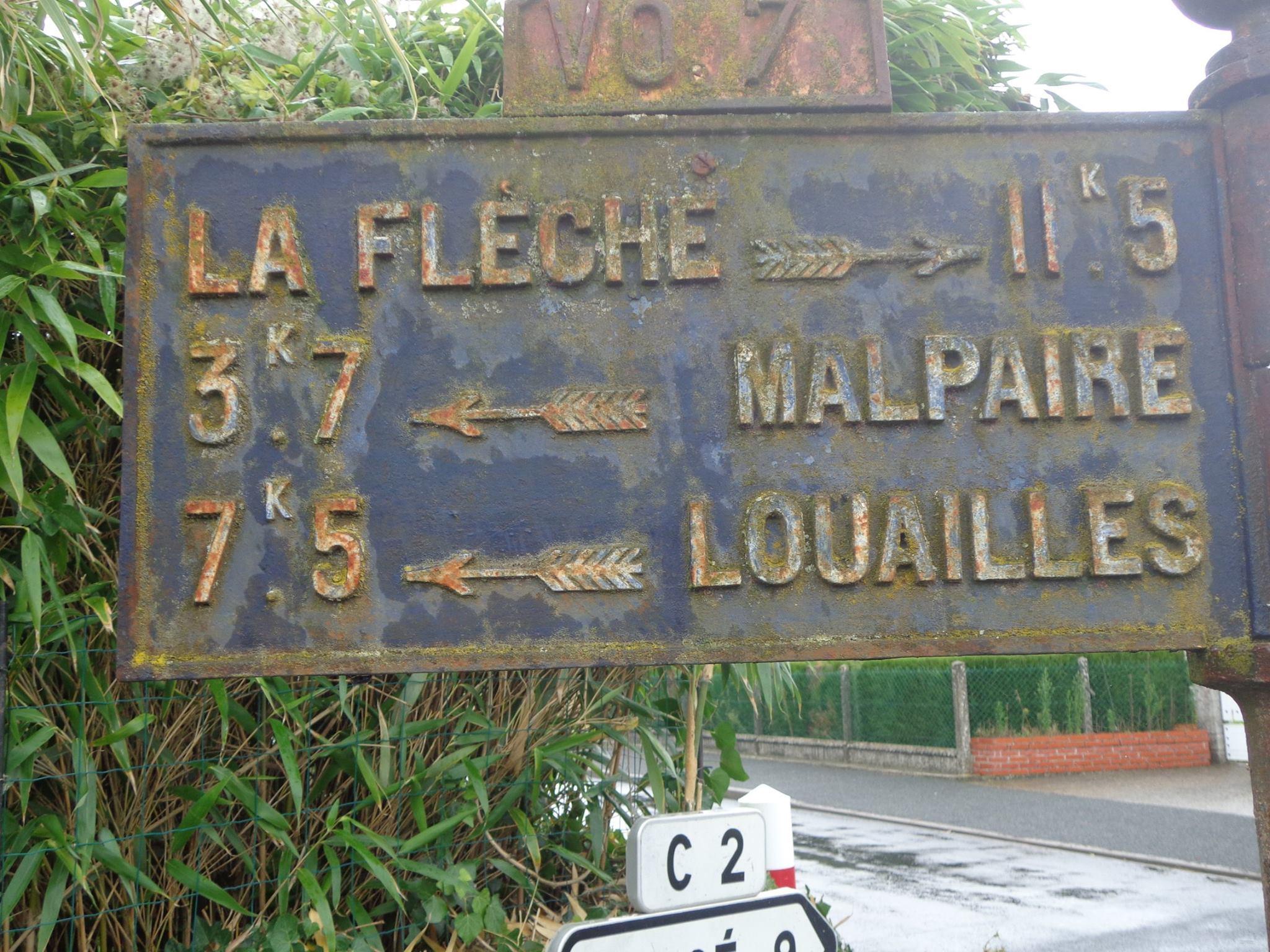 Le Bailleul, rue du Bourg Joly - Plaque de cocher - La Flèche - Malpaire - Louailles (Marie-Yvonne Mersanne)