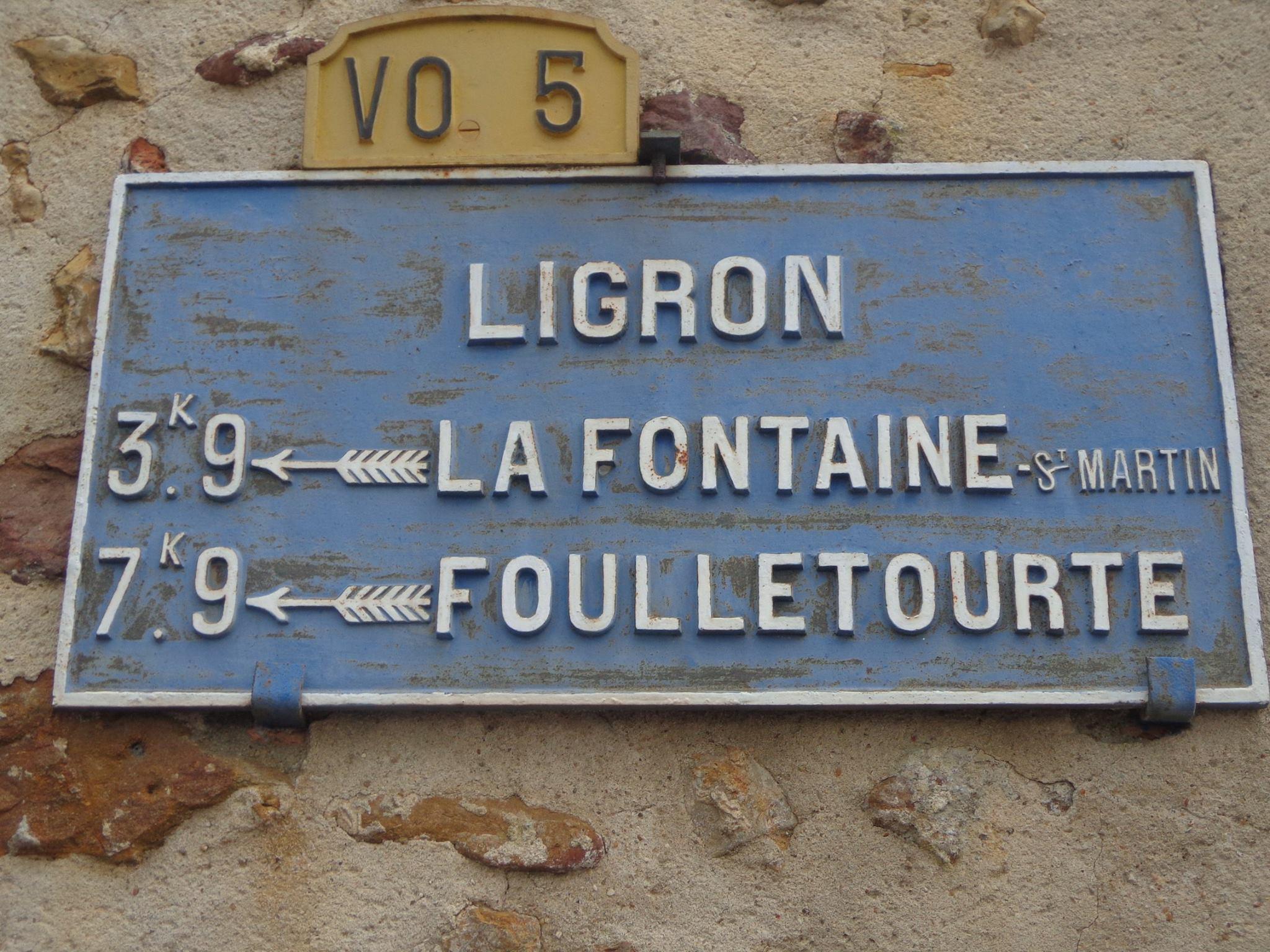 Ligron - Plaque de cocher - La Fontaine Saint Martin - Foulletourte (Marie-Yvonne Mersanne)
