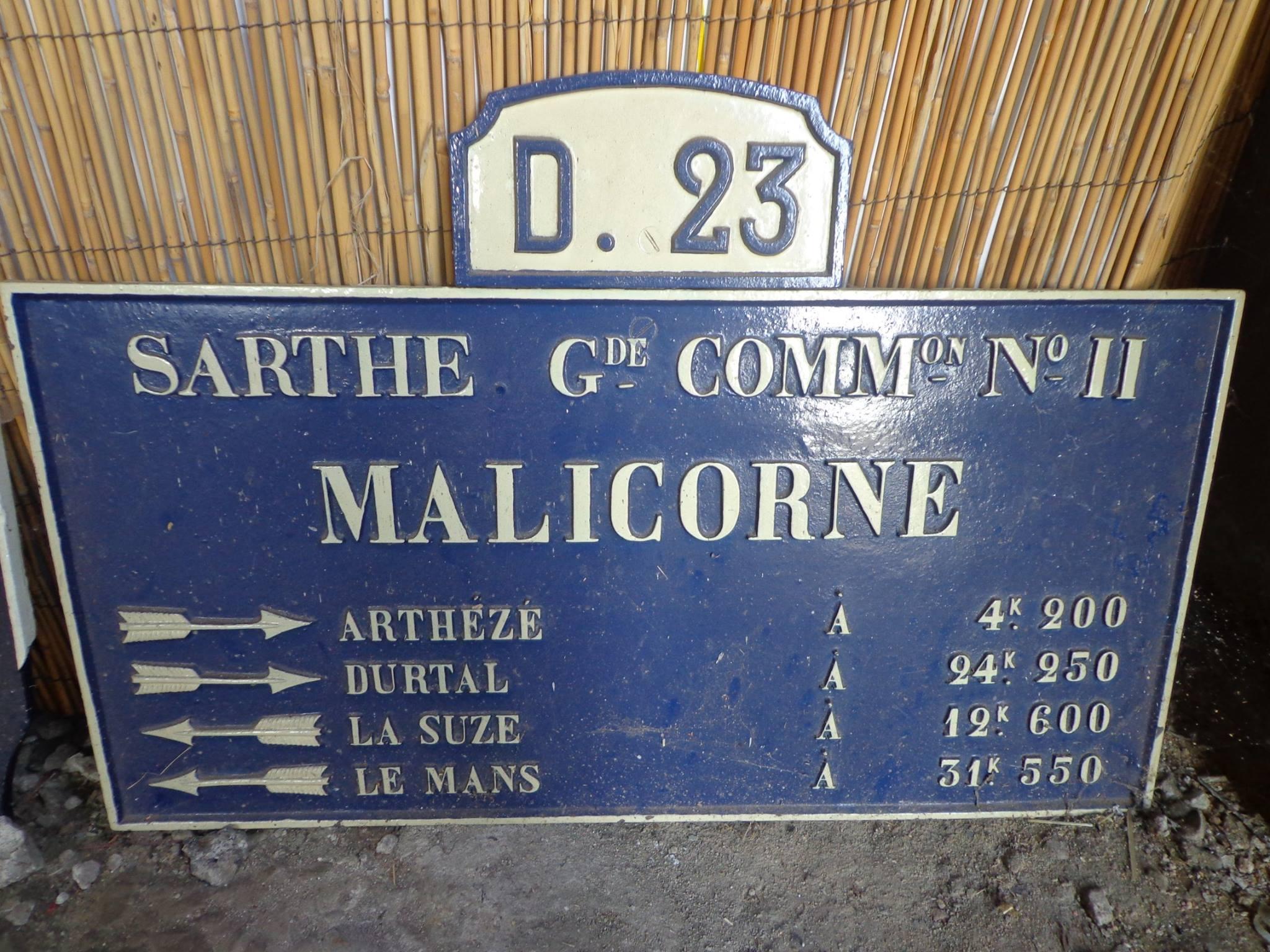 Malicorne sur Sarthe - Plaque de cocher - Arhezé - Durtal - La Suze - Le Mans (Marie-Yvonne Mersanne)
