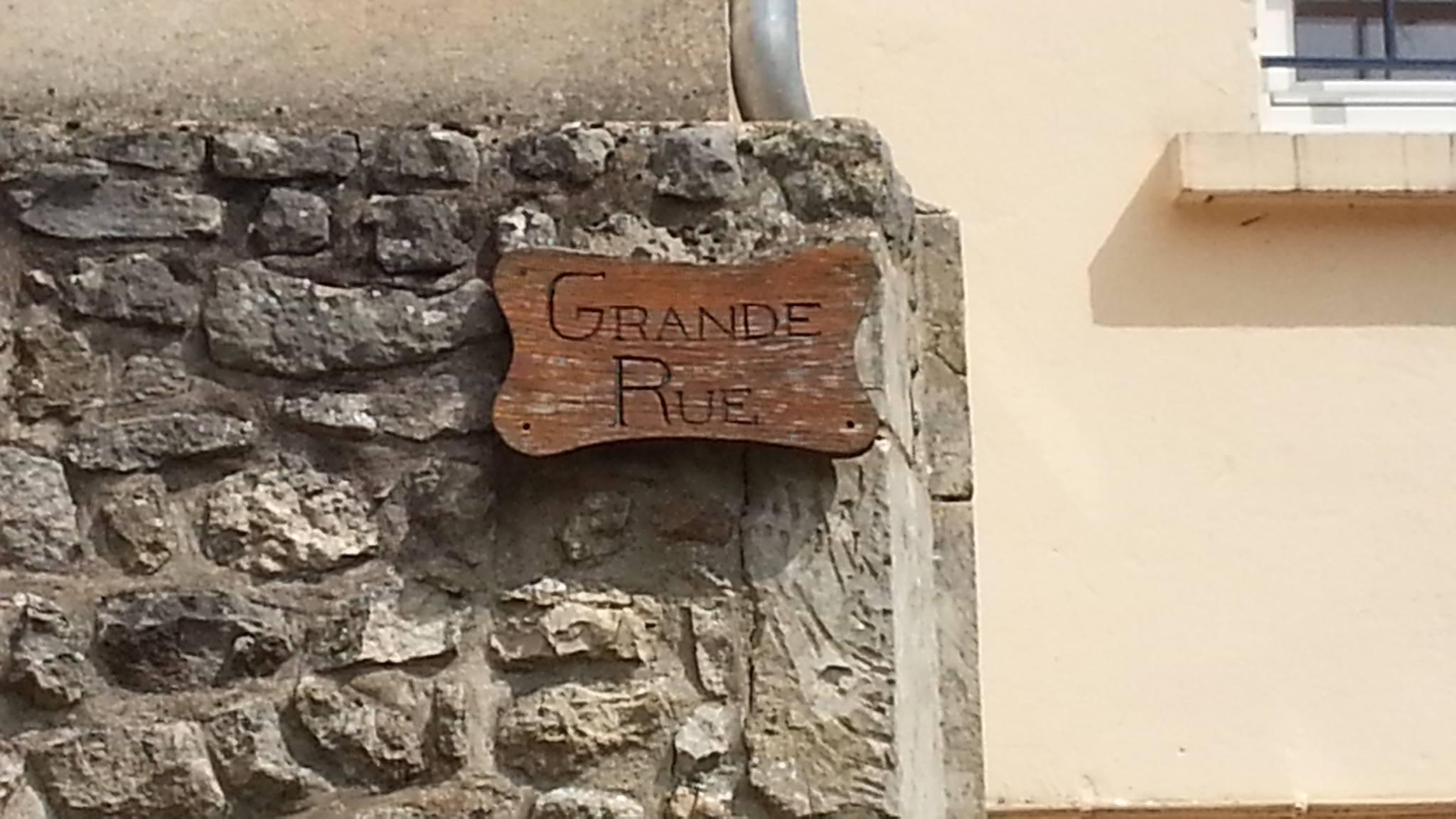 Mamers - Plaque de rue - Grande Rue (Fabienne Germain)