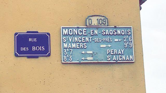 Moncé en Saosnois - Plaque de cocher - Saint Vincent des Prés - Mamers - Peray - Saint Aignan (Fabienne Germain)