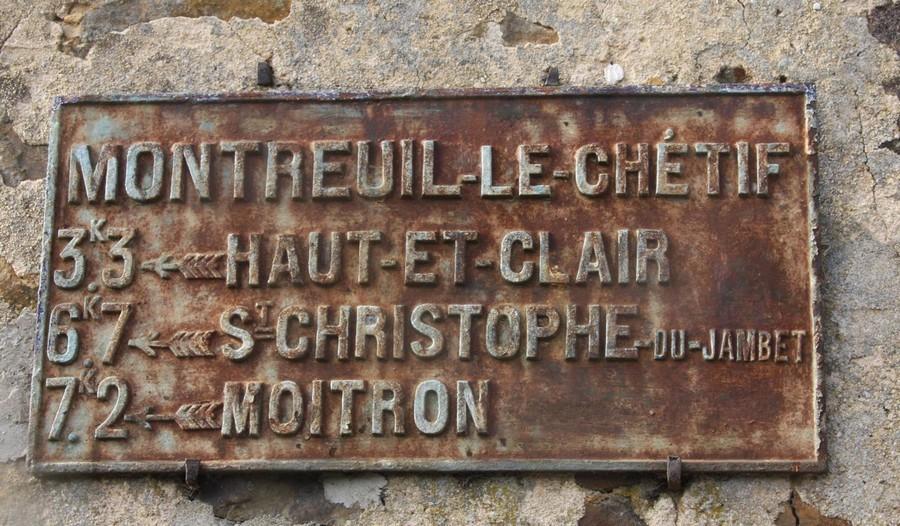 Montreuil le Chétif - Plaque de cocher - Haut et Clair - Saint Christophe du Jambet - Moitron (Sylvie Leveau)