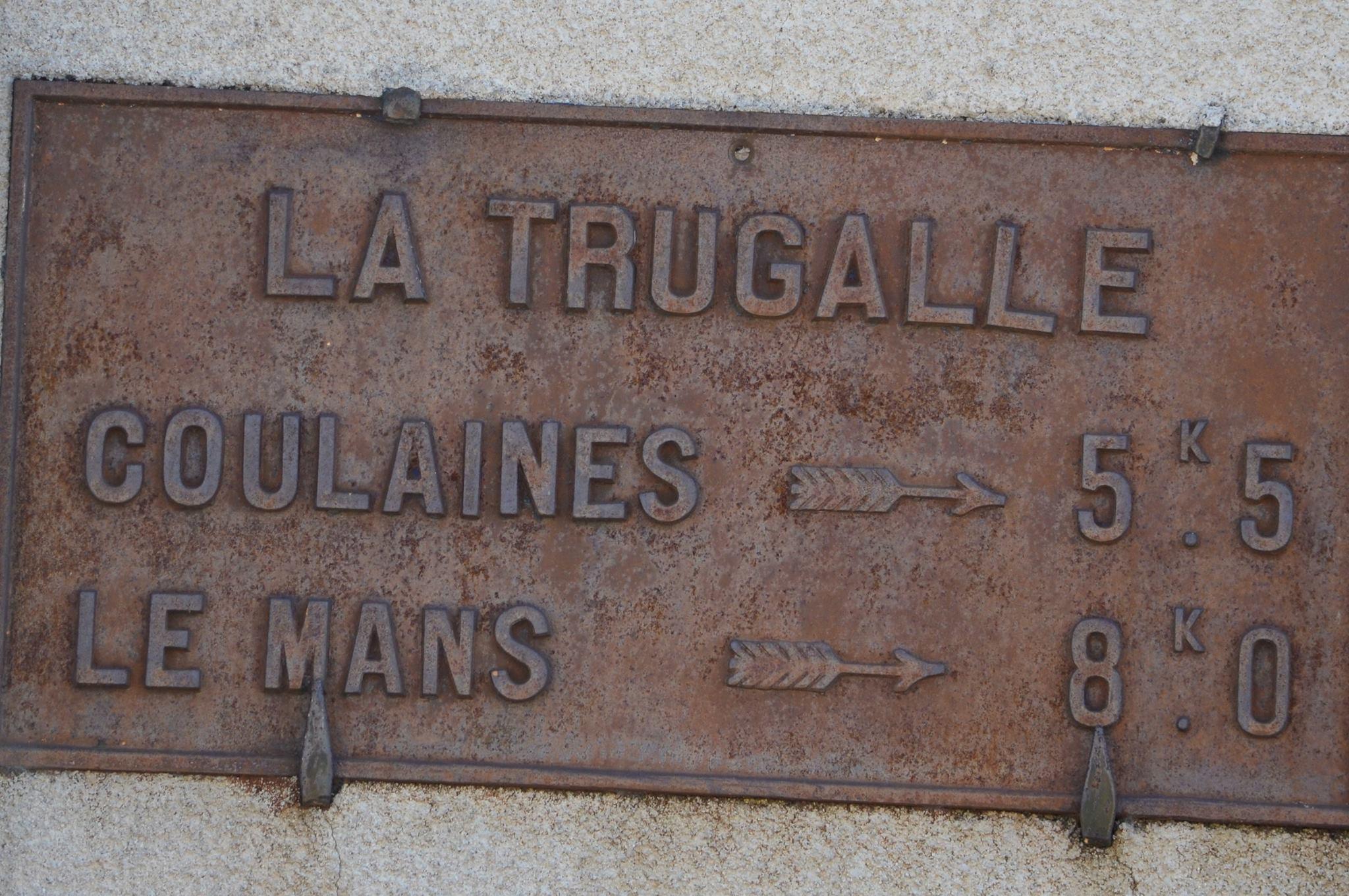 Neuville sur Sarthe - La Trugalle - Plaque de cocher - Coulaines - Le Mans (San Doni)