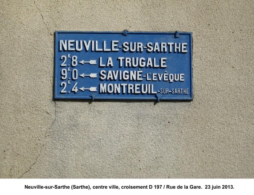 Neuville sur Sarthe - Plaque de cocher - La Trugale - Savigné l'Evêque - Montreuil sur Sarthe (Jean-François Lobreau)
