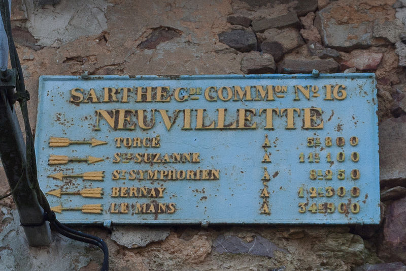 Neuvillette en Charnie - Plaque de cocher - Torcé - Saint Suzane - Saint Symphorien - Bernay - Le Mans (Source Internet, Pymouss)