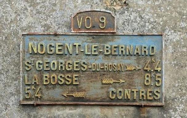 Nogent le Bernard - Plaque de cocher - Saint Georges du Rosay - La Bosse - Contres (Valérie Lusson)