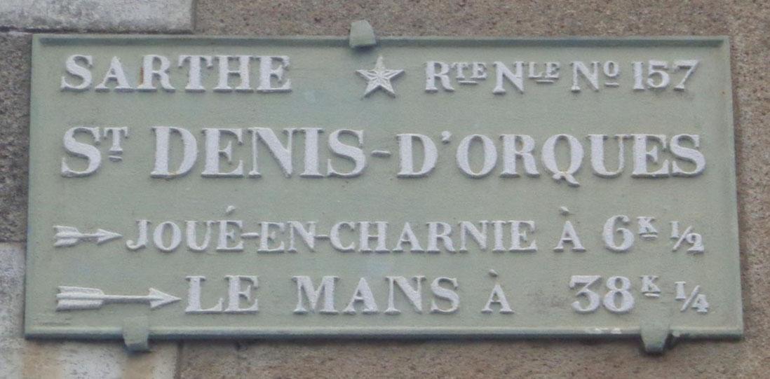 Saint Denis d'Orques - Plaque de cocher - Joué en Charnie - Le Mans (Sylvie Leveau)