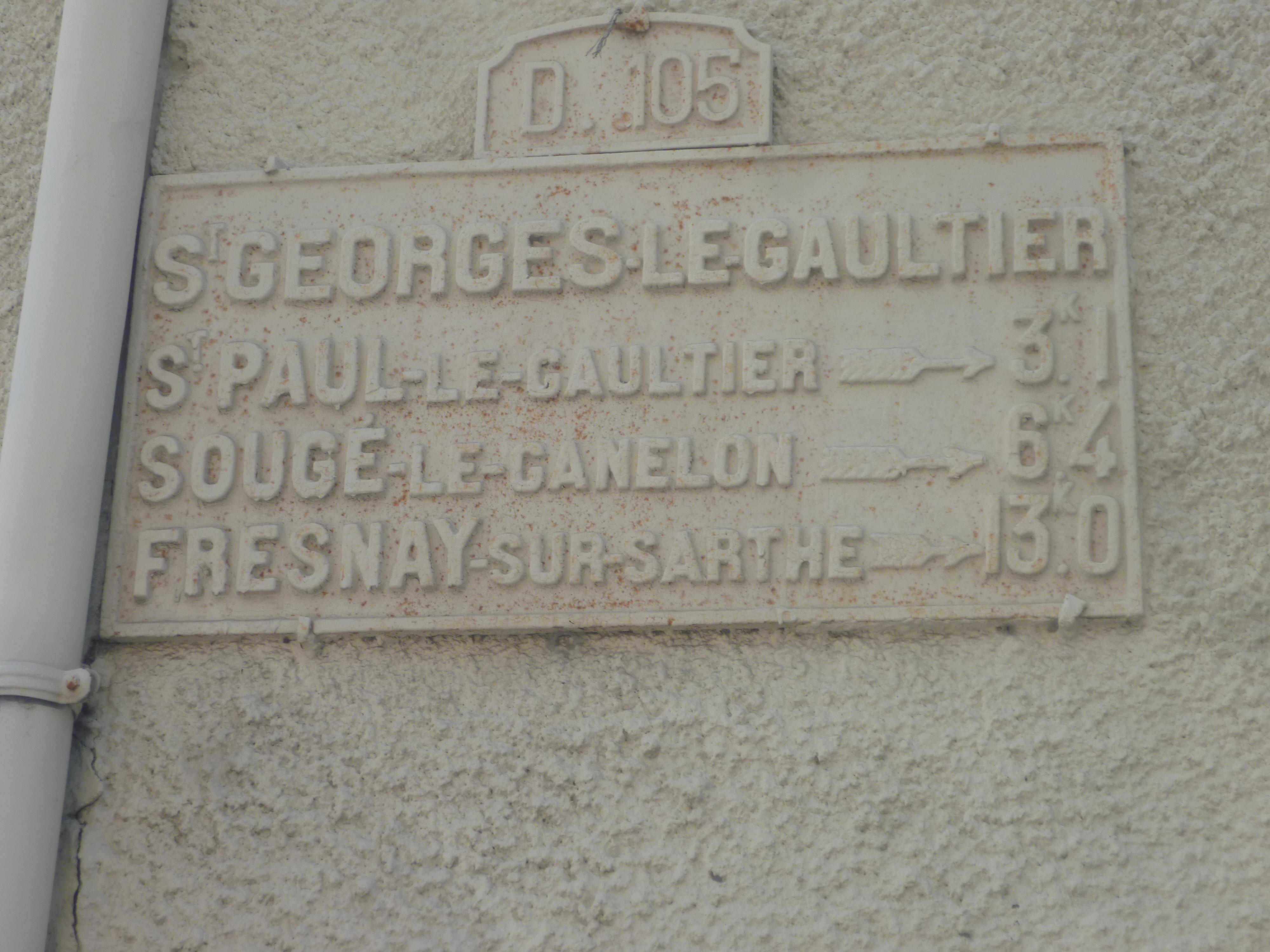 Saint Georges le Gaultier - Plaque de cocher - Saint Paul le Gaultier - Sougé le Ganelon - Fresnay sur Sarthe (Gwéna Tireau)