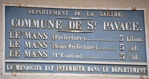 Saint Pavace - Plaque de cocher - Le Mans (Sylvie Leveau)