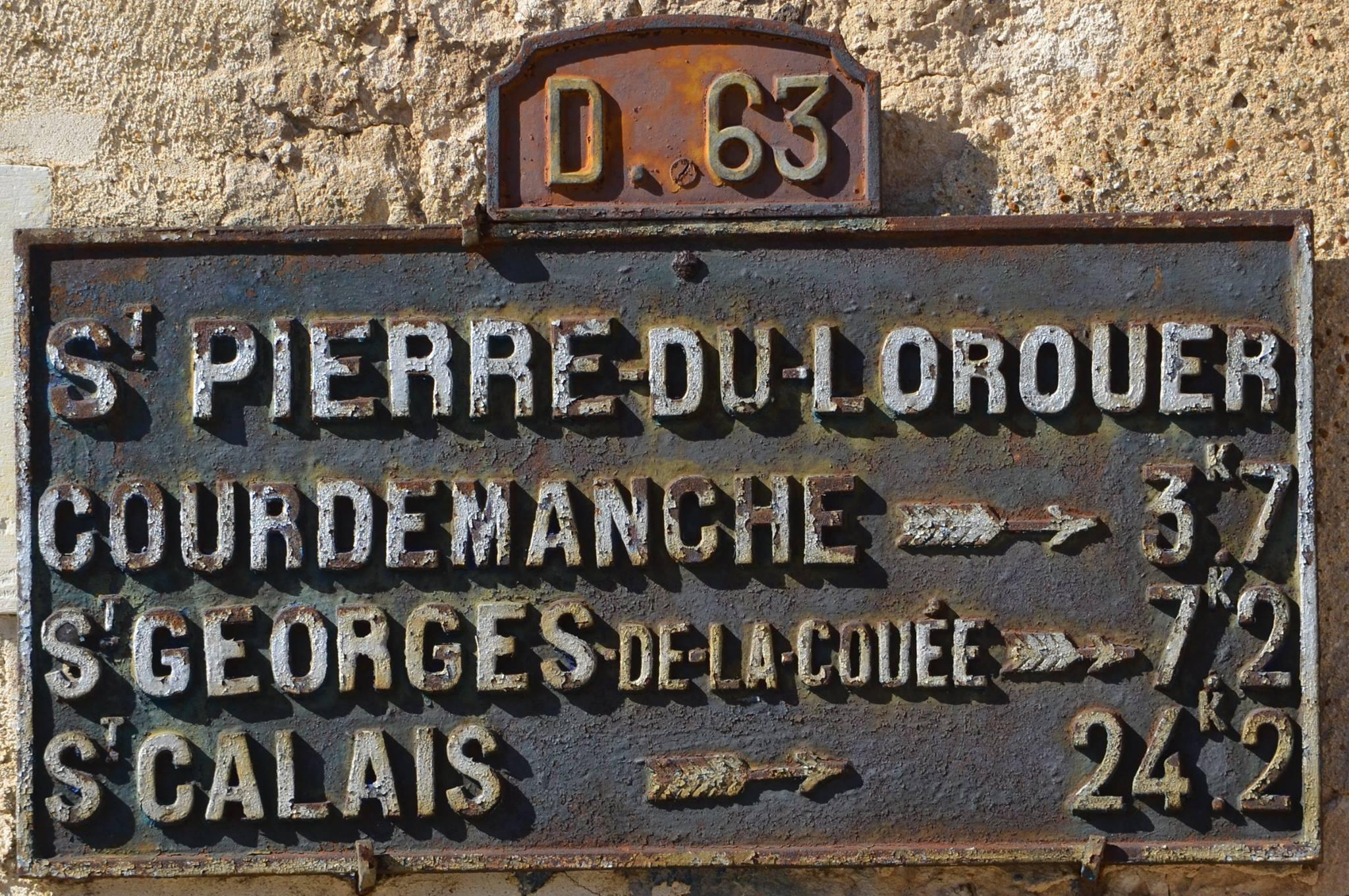 Saint Pierre du Lorouër, rue de la Veuve - Plaque de cocher - Courdemanche - Saint Georges de la Couée - Saint Calais (San Doni)