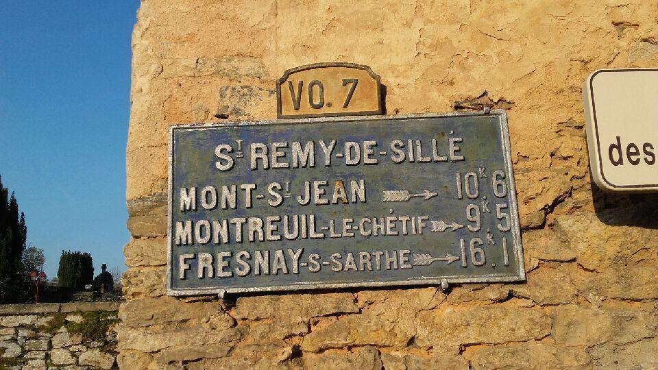 Saint Rémy de Sillé - Plaque de cocher - Mont Saint Jean - Montreuil le Chétif - Fresnay sur Sarthe (Valérie Lusson)