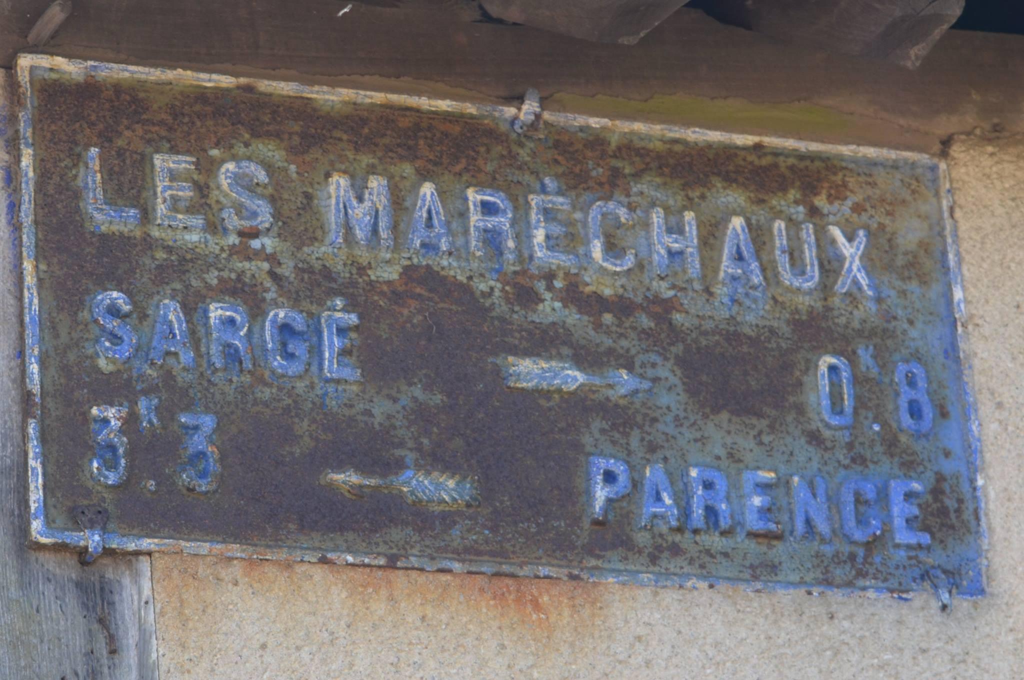 Sargé lès le Mans, lieu dit Les Maréchaux - Plaque de cocher - Sargé - Parence (San Doni)