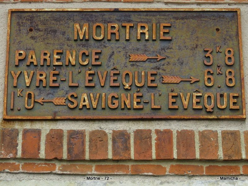 Savigné l'Evêque, lieu dit Mortrie - Plaque de cocher - Parence - Yvré l'Evêque - Savigné l'Evêque (Cath Mamicha)