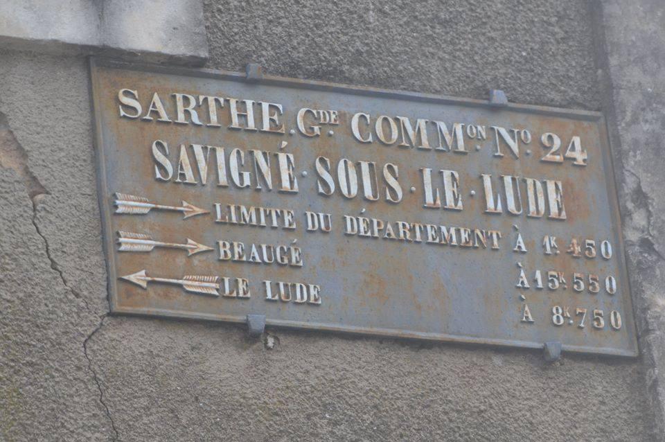 Savigné sous le Lude - Plaque de cocher - Limite du département - Beaucé - Le Lude (San Doni)