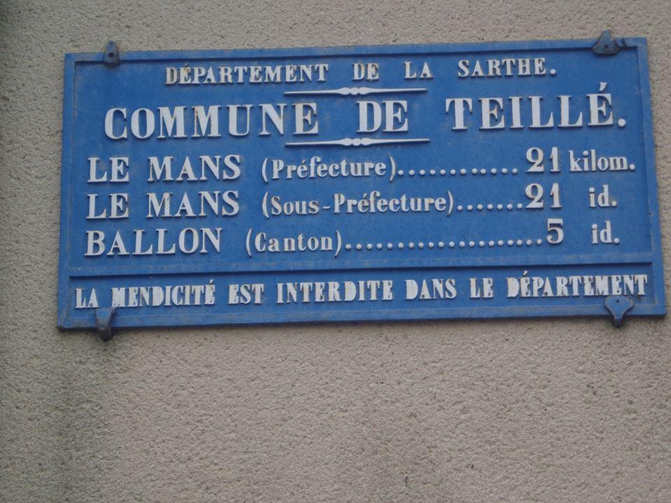 Teillé - Plaque de cocher - Le Mans - Ballon (Marie-Yvonne Mersanne)