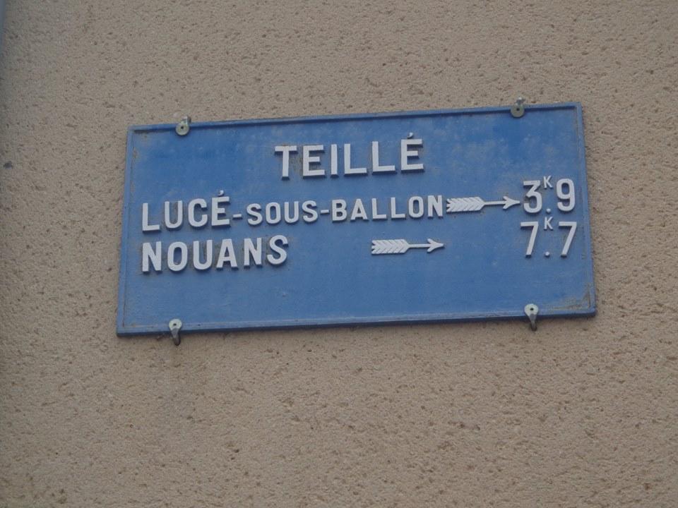 Teillé - Plaque de cocher - Lucé sous Ballon - Nouans (Marie-Yvonne Mersanne)