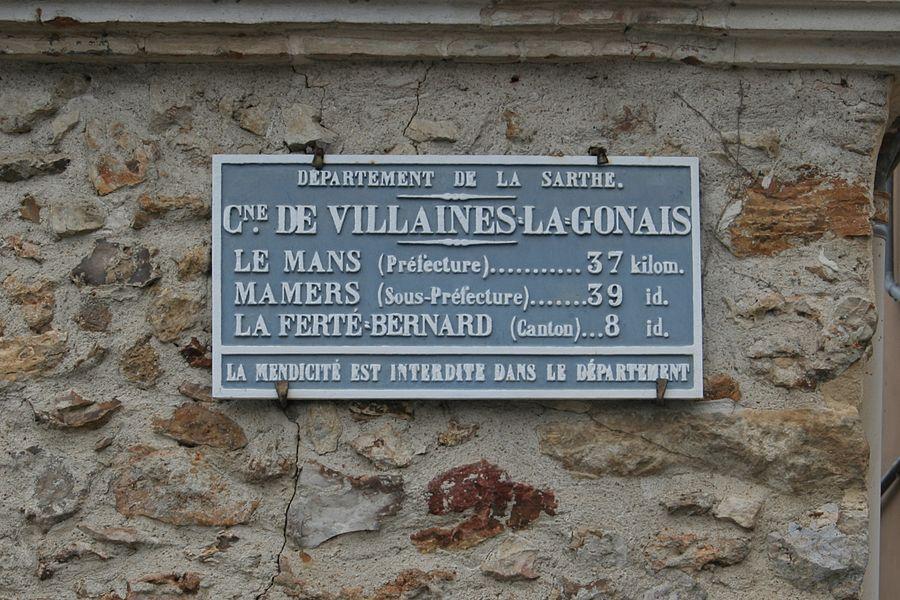 Villaines la Gonais - Plaque de cocher - Le Mans - Mamers - La Ferté Bernard (Source Internet, Pymouss)