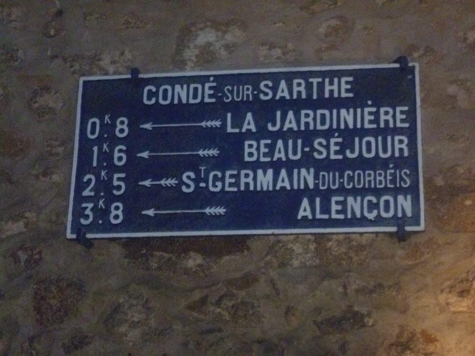 Zone 61 - Condé sur Sarthe - Plaque de cocher - La Jardinière - Beau Séjour - Saint Germain du Corbéis - Alençon (Gwéna Tireau)