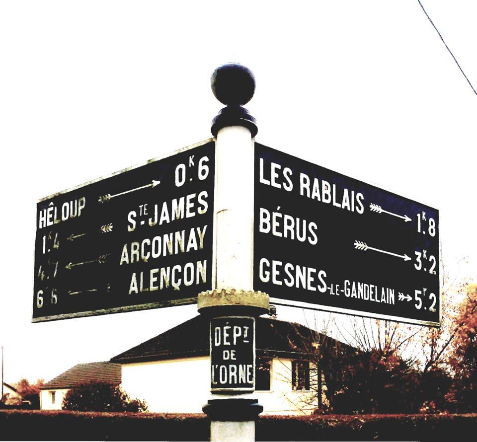 Zone 61 - Héloup, lieu dit Les Ardriers - Plaque de cocher - Hêloup - Saint James - Arçonnay - Alençon - Les Rablais - Bérus - Gesnes le Gandelain (Camille Chauvet)