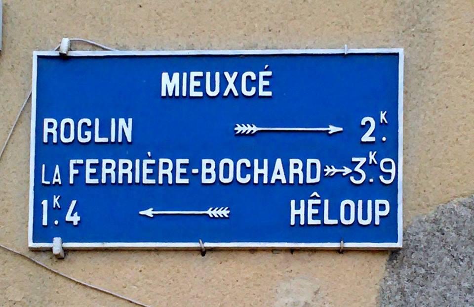 Zone 61 - Mieuxcé - Plaque de cocher - Roglin - La Ferrière Bochard - Hêloup (Camille Chauvet)