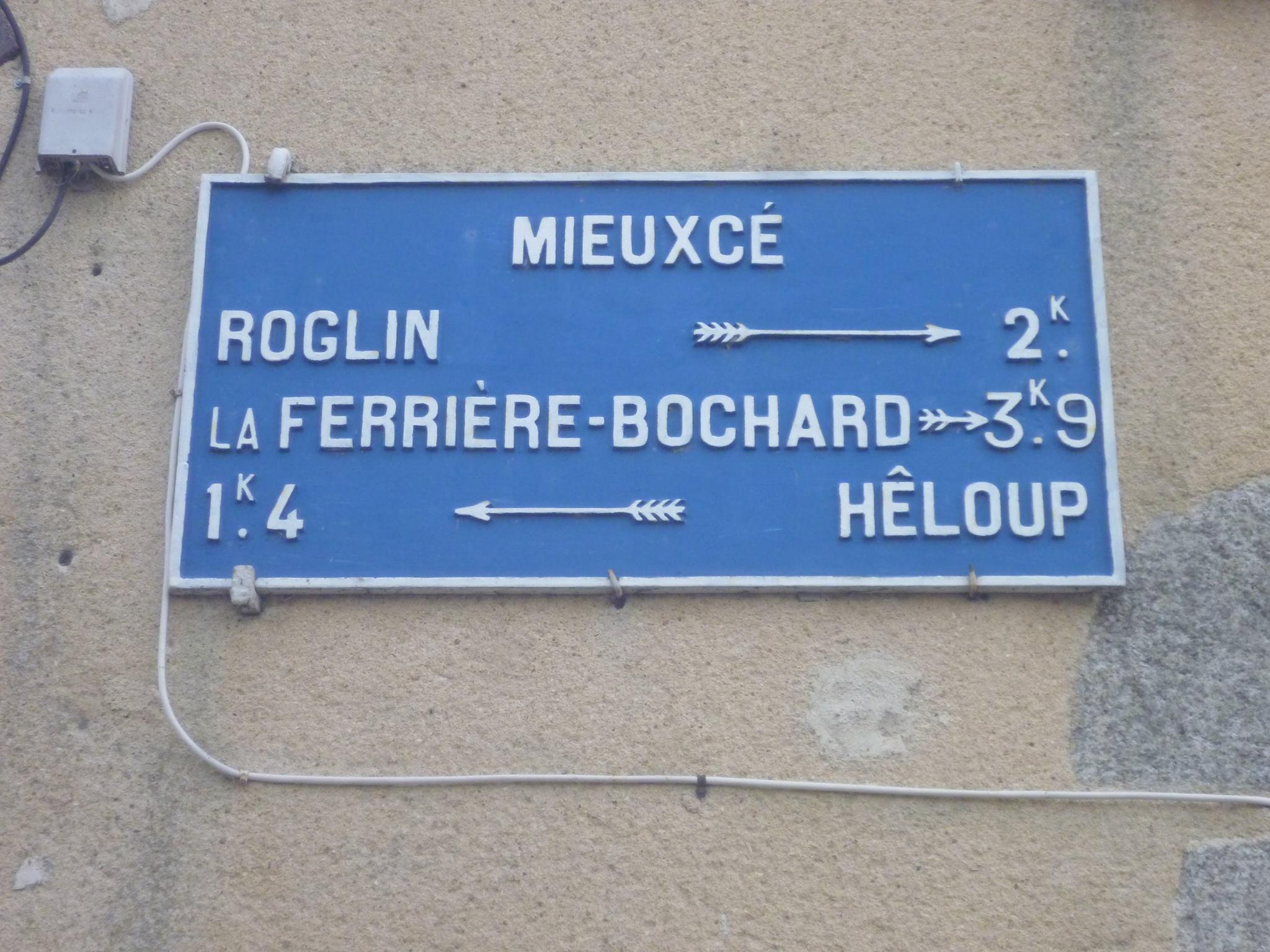 Zone 61 - Mieuxcé - Plaque de cocher - Roglin - La Ferrière Bochard - Hêloup (Gwéna Tireau)