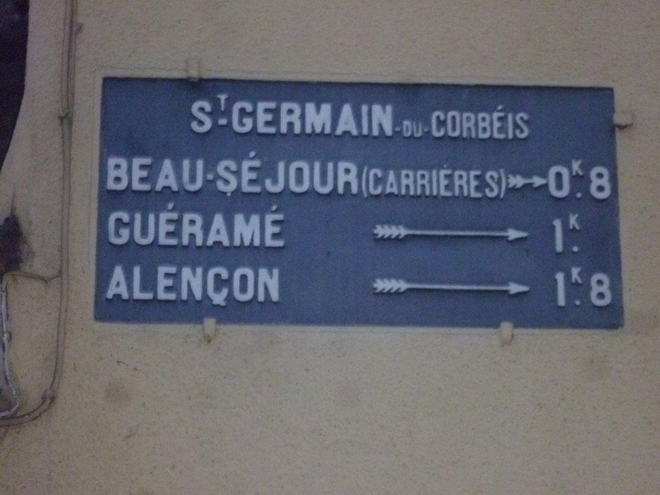 Zone 61 - Saint Germain du Corbéis - Plaque de cocher - Beau Séjour - Guéramé - Alençon (Gwéna Tireau)