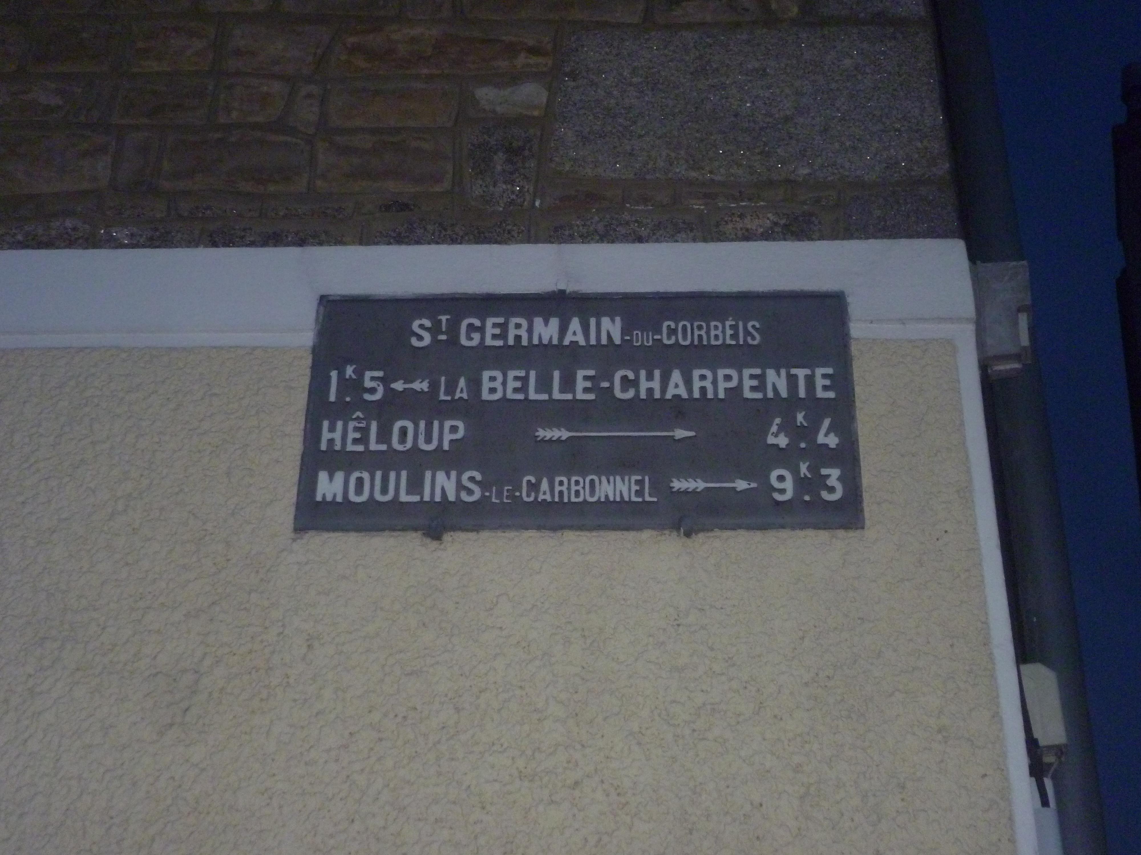 Zone 61 - Saint Germain du Corbéis - Plaque de cocher - La Belle Charpente - Hêloup - Moulins le Carbonnel (Gwéna Tireau)