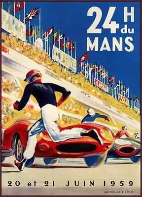 Affiches, enseignes, logos et pubs - Affiche - 24H du Mans - 20 et 21 juin 1959