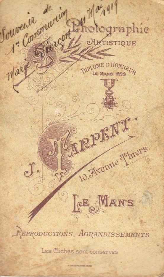 Le Mans - Affiches, enseignes, logos et pubs - Photographie Artistique J. TARPENT - Vers 1919