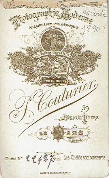 Le Mans - Affiches, enseignes, logos et pubs - Photographie J. COUTURIER - Vers 1890