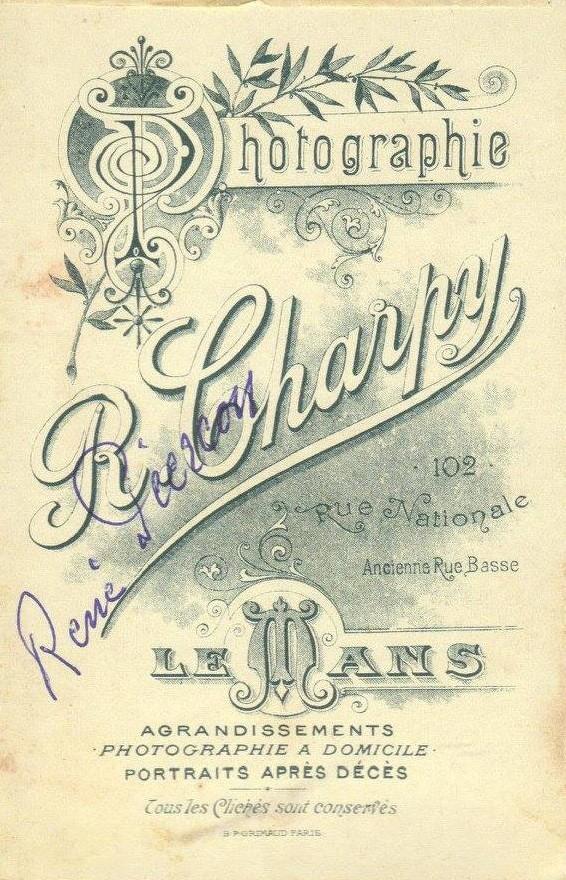 Le Mans - Affiches, enseignes, logos et pubs - Photographie R. CHARPY - 1905