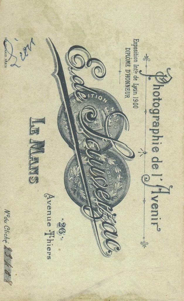 Le Mans - Affiches, enseignes, logos et pubs - Photographie de l'Avenir E. de SAUVERZAC - 1901