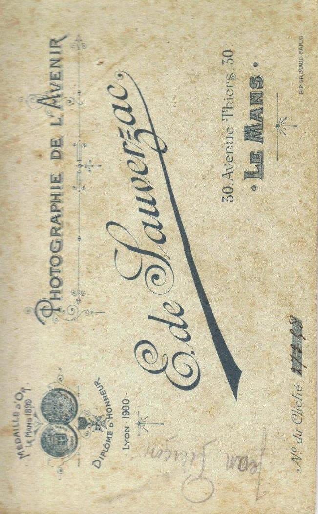 Le Mans - Affiches, enseignes, logos et pubs - Photographie de l'Avenir E. de SAUVERZAC - 1902