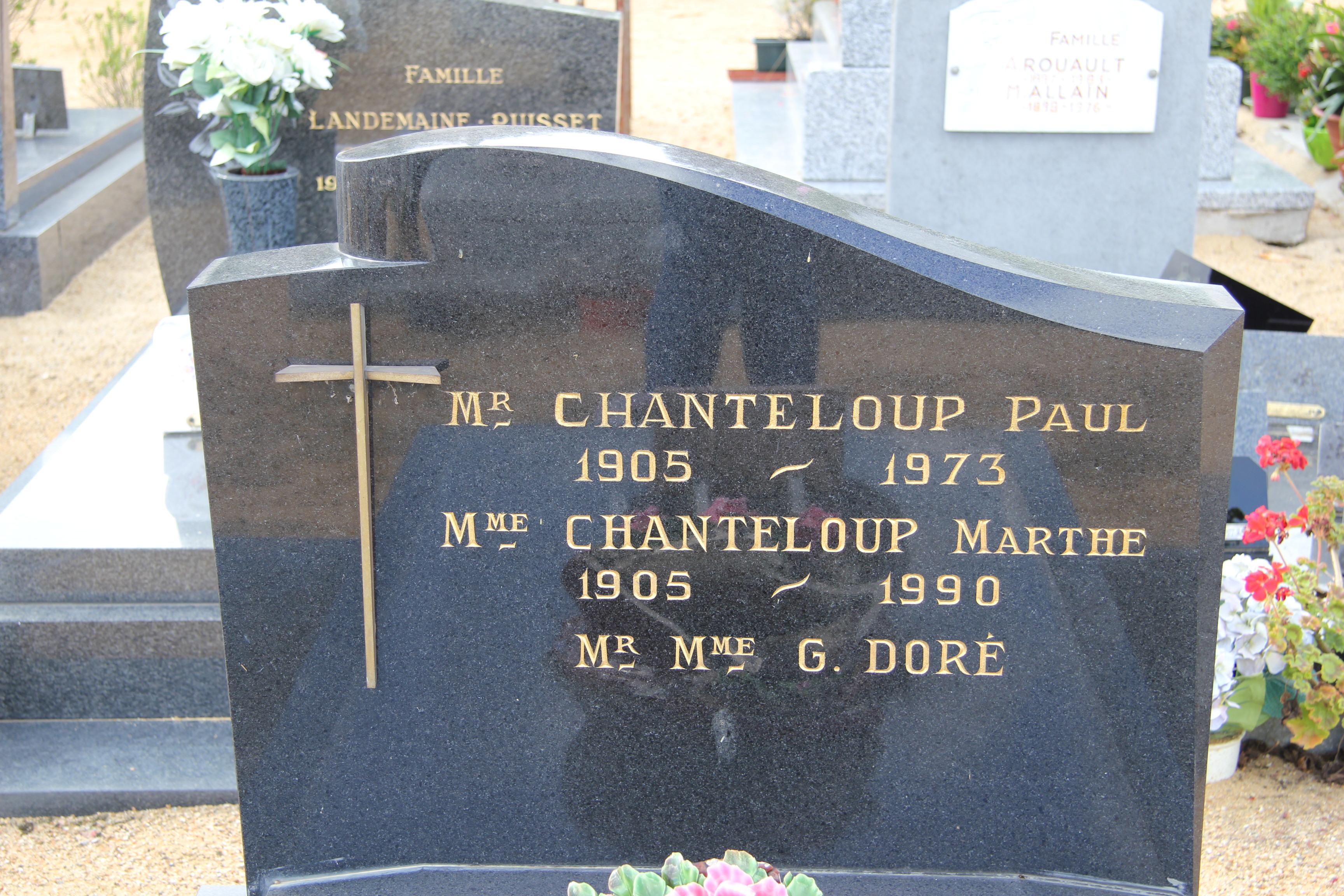 Auvers sous Montfaucon - Cimetière - CHANTELOUP Paul et Marthe - DORE Gustave et Marie-Louise 02 (Sylvie Leveau)