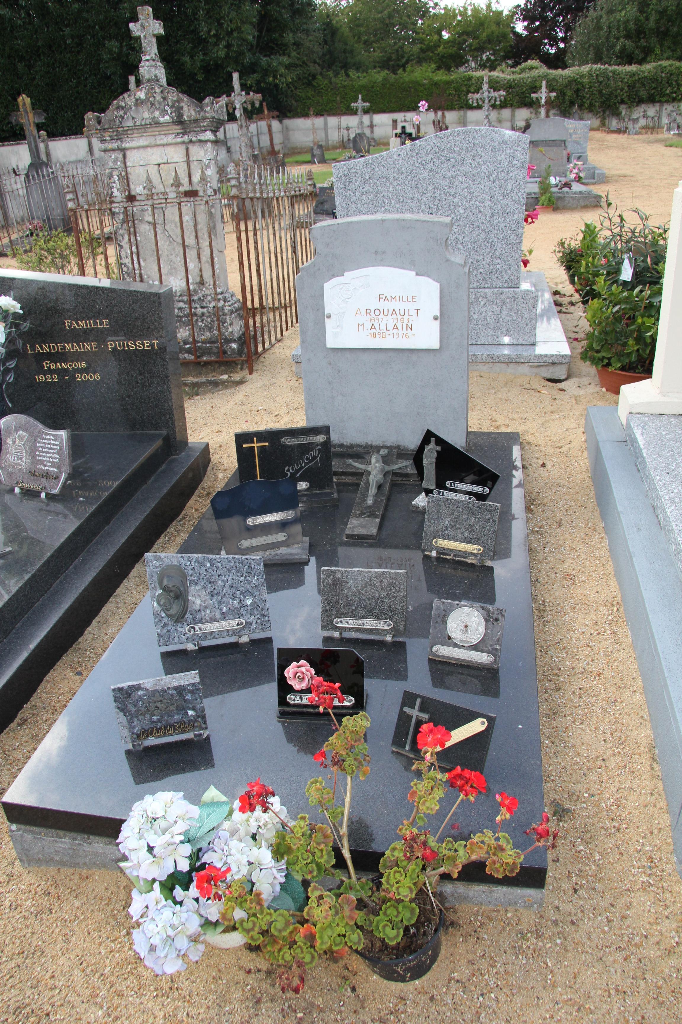 Auvers sous Montfaucon - Cimetière - Famille ROUAULT A. et ALLAIN M. (Sylvie Leveau)