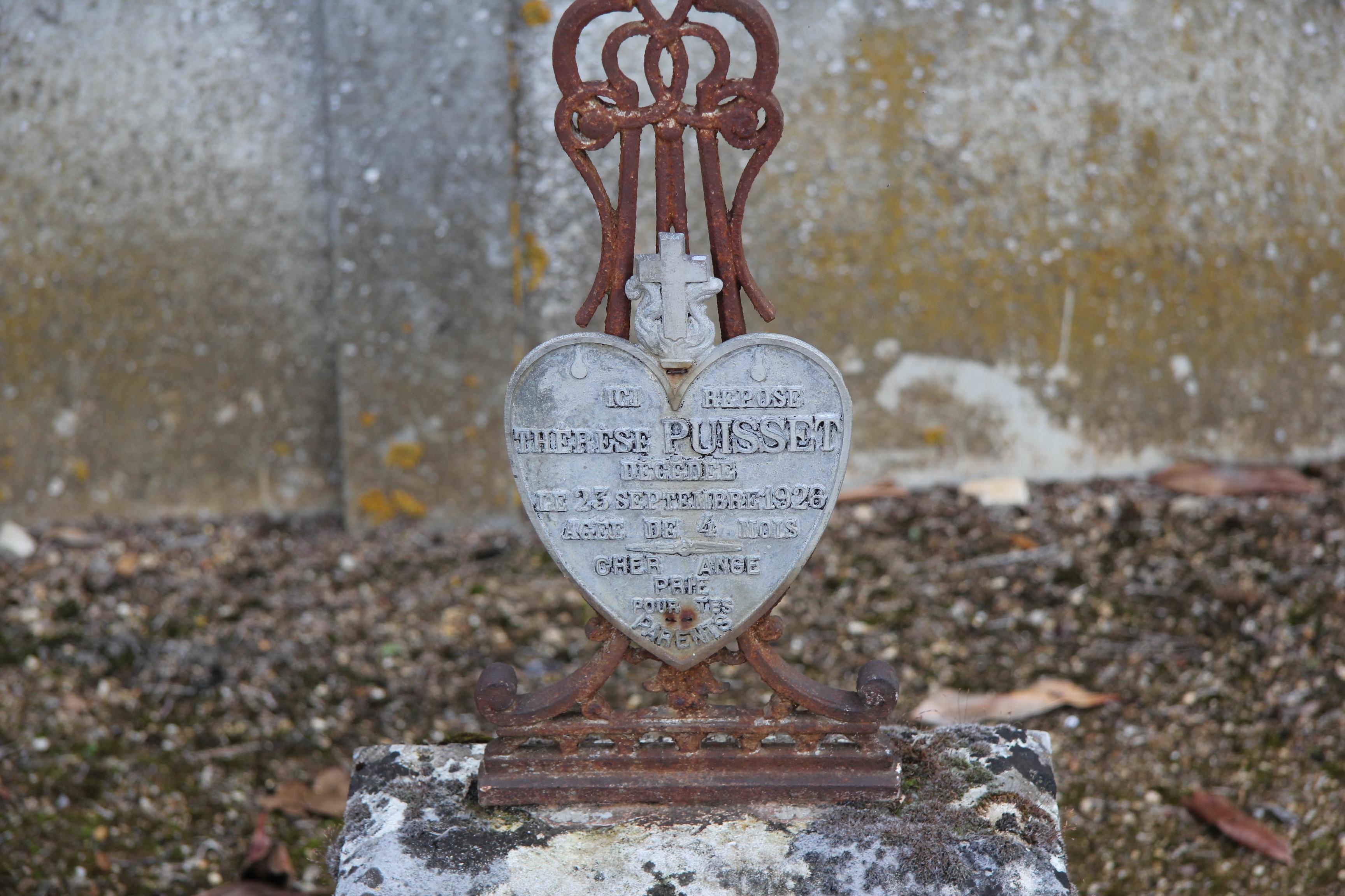 Auvers sous Montfaucon - Cimetière - PUISSET Thérèse 02 (Sylvie Leveau)