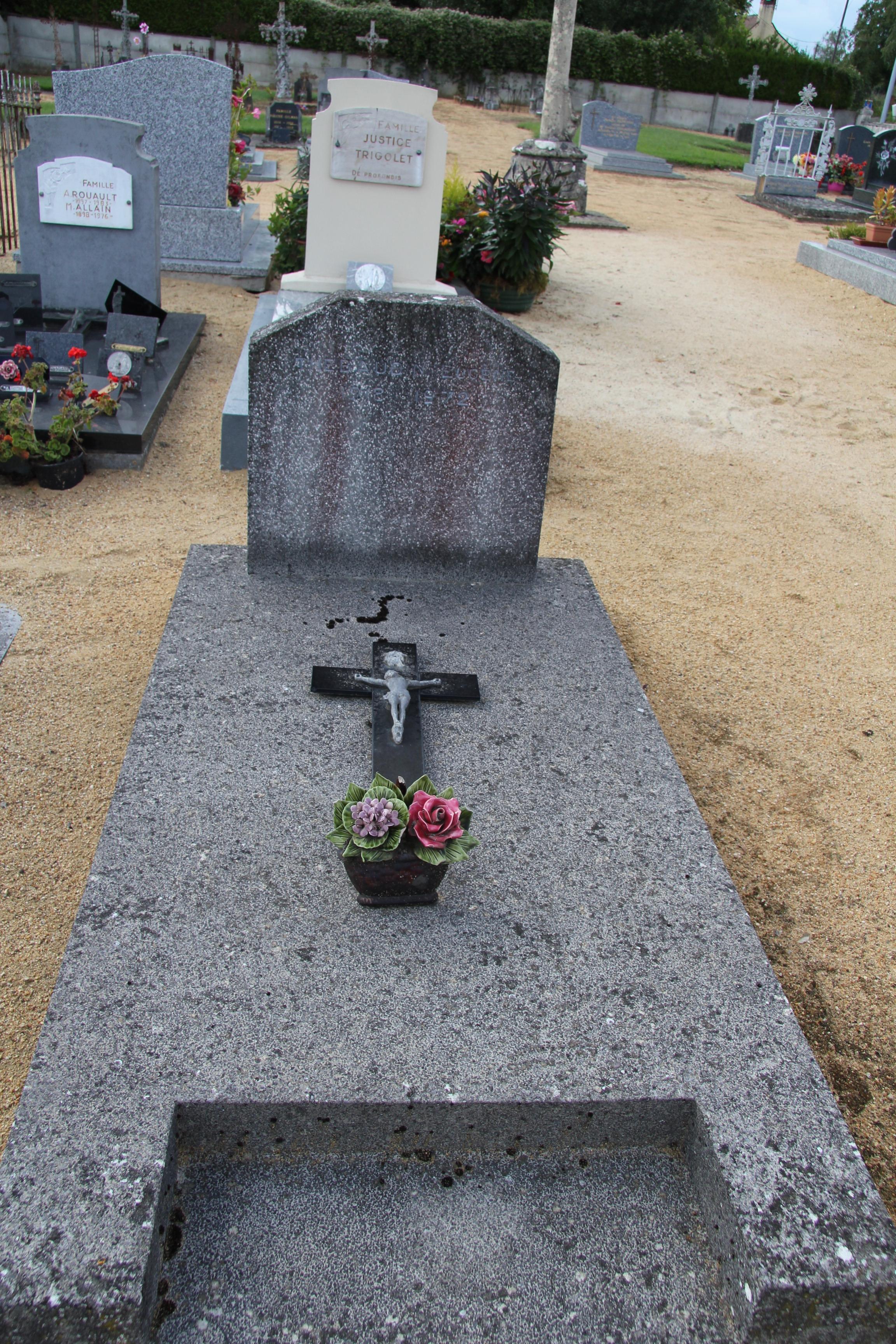Auvers sous Montfaucon - Cimetière - THEBAUDIN Eugène 01 (Sylvie Leveau)