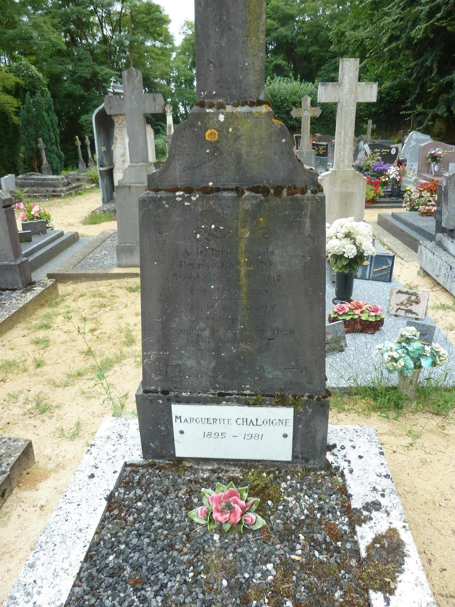 Clermont Créans - Cimetière - CHALOIGNE Henri et RENAUDIN Marie - RENAUDIN Marguerite (Loïc Prémartin)
