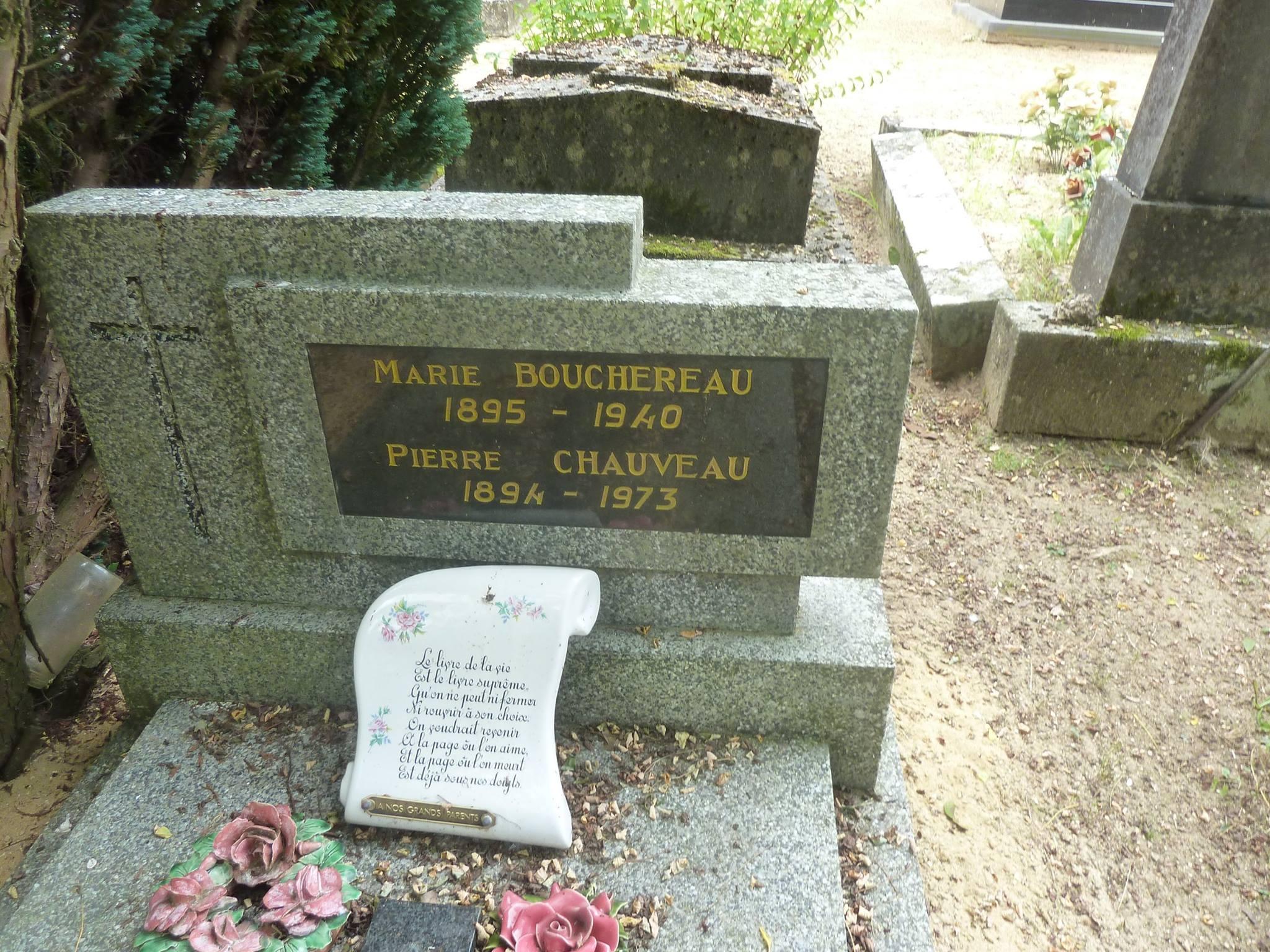 Clermont Créans - Cimetière - CHAUVEAU Pierre et BOUCHEREAU Marie 02 (Loïc Prémartin)