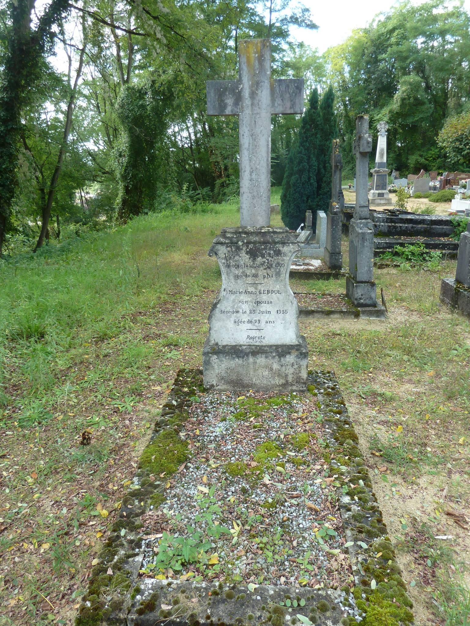 Clermont Créans - Cimetière - LEMERCIER Louis et LEBOUL Marie-Anne 01 (Loïc Prémartin)