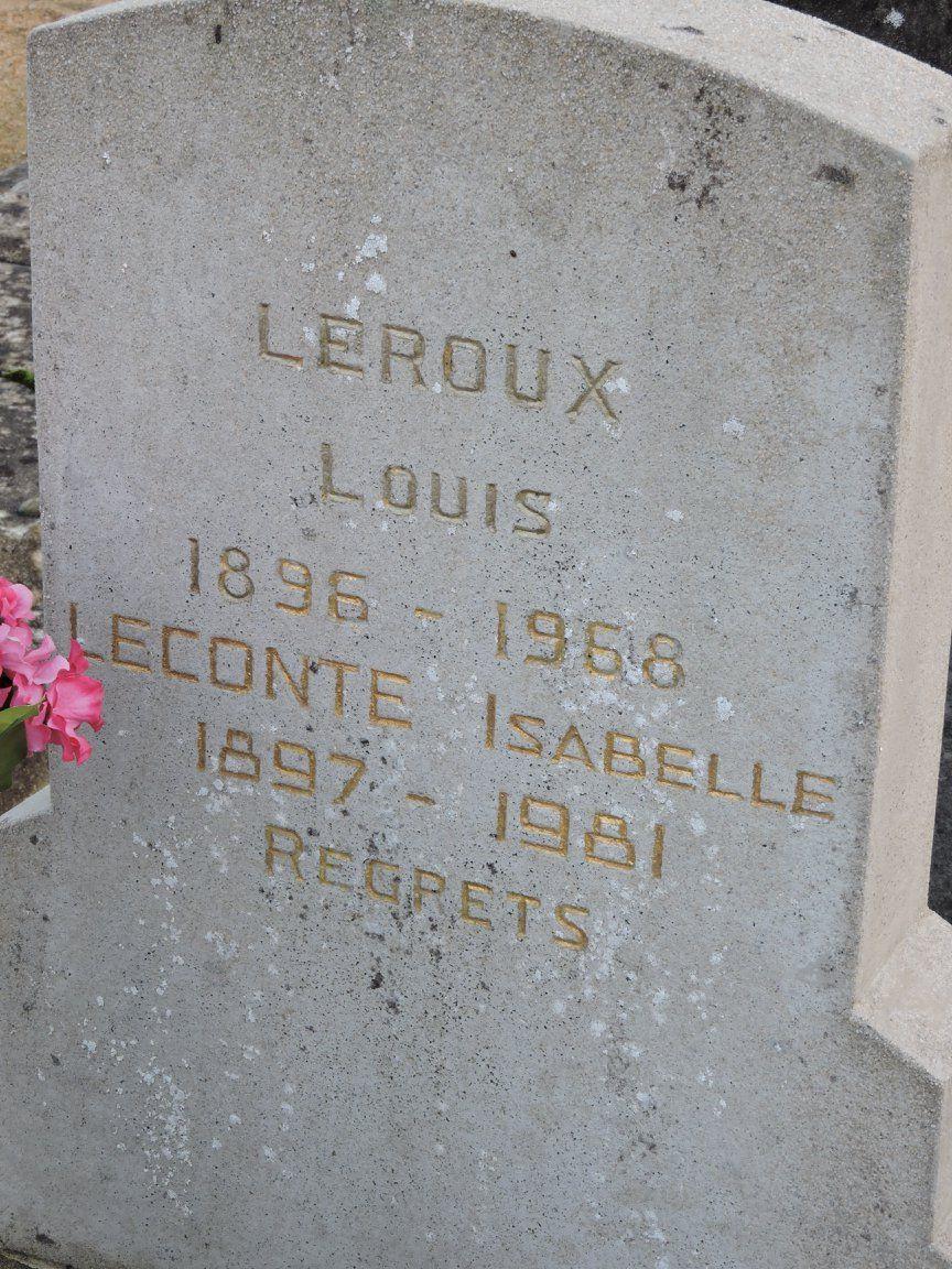 Le Grand Lucé - Cimetière - LEROUX Louis et LECONTE Isabelle (Chantale Vieux)