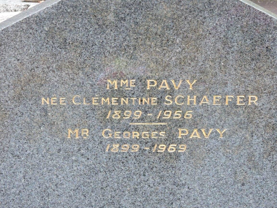 Le Grand Lucé - Cimetière - PAVY Georges et SCHAEFER Clémentine (Chantale Vieux)