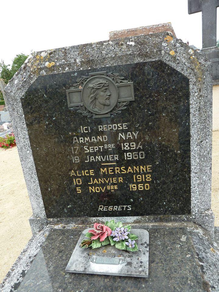 Mareil sur Loir - Cimetière - NAY Armand et  MERSANNE Alice 02 (Loïc Prémartin)