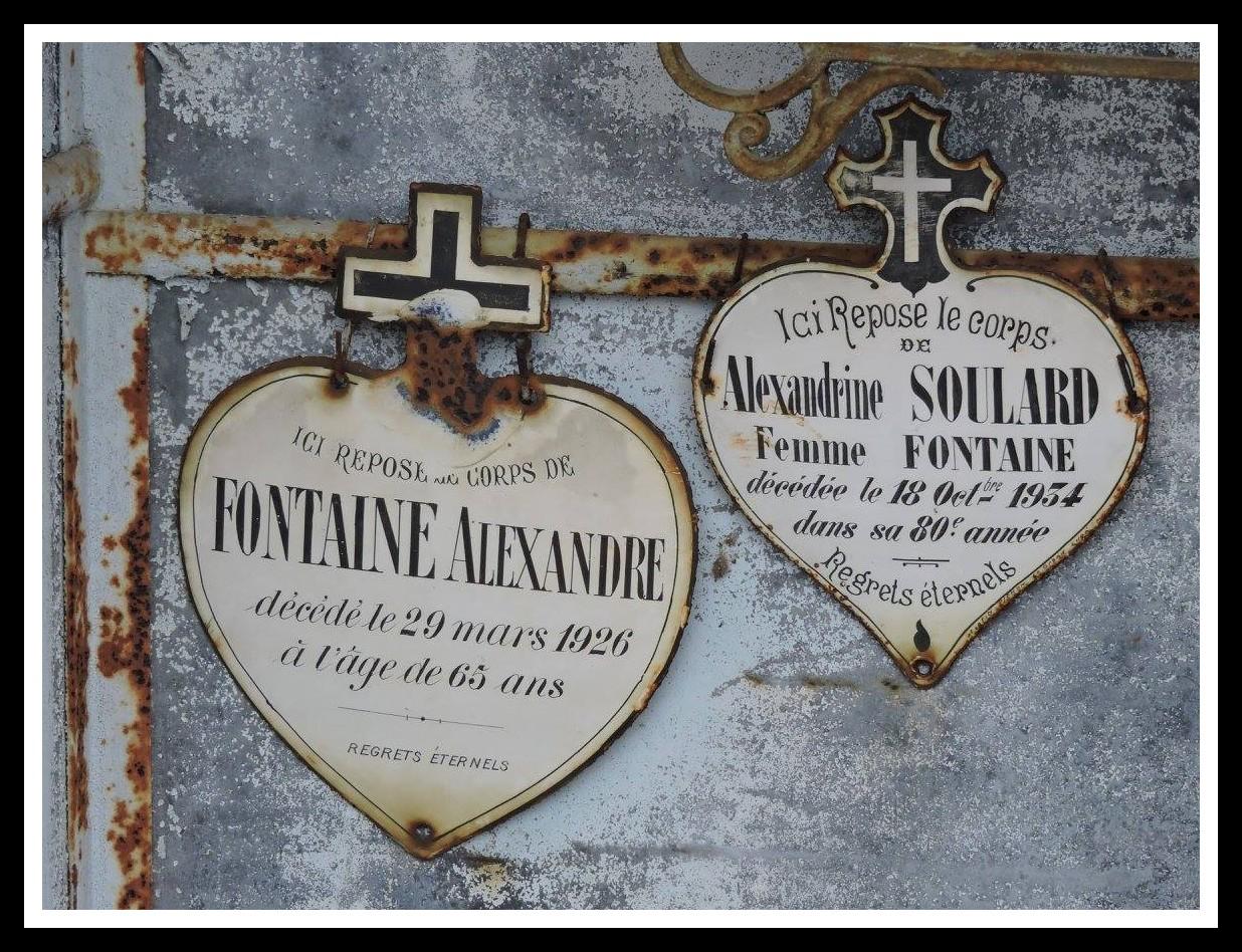 Villaines sous Lucé - Cimetière - FONTAINE Alexandre et SOULARD Alexandrine (Chantale Vieux)
