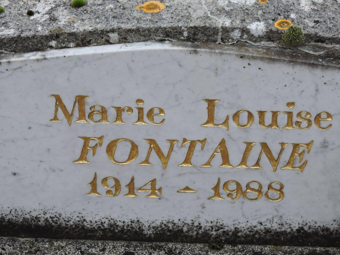 Villaines sous Lucé - Cimetière - FONTAINE Marie-Louise 1914-1988 (Chantale Vieux)