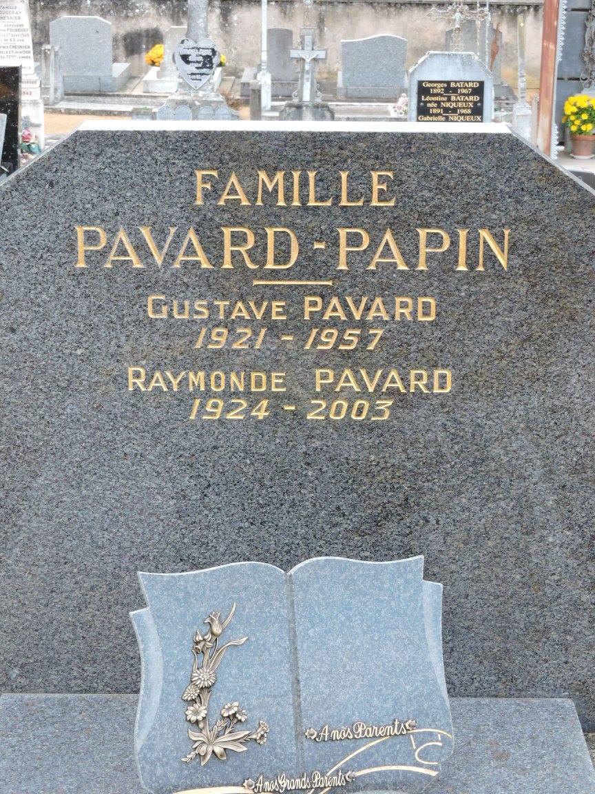 Villaines sous Lucé - Cimetière - Famille PAVARD-PAPIN - PAVARD Gustave - PAVARD Raymonde (Chantale Vieux)