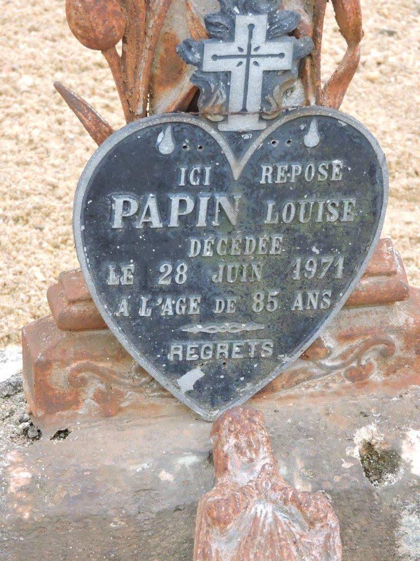 Villaines sous Lucé - Cimetière - PAPIN Louise (Chantale Vieux)