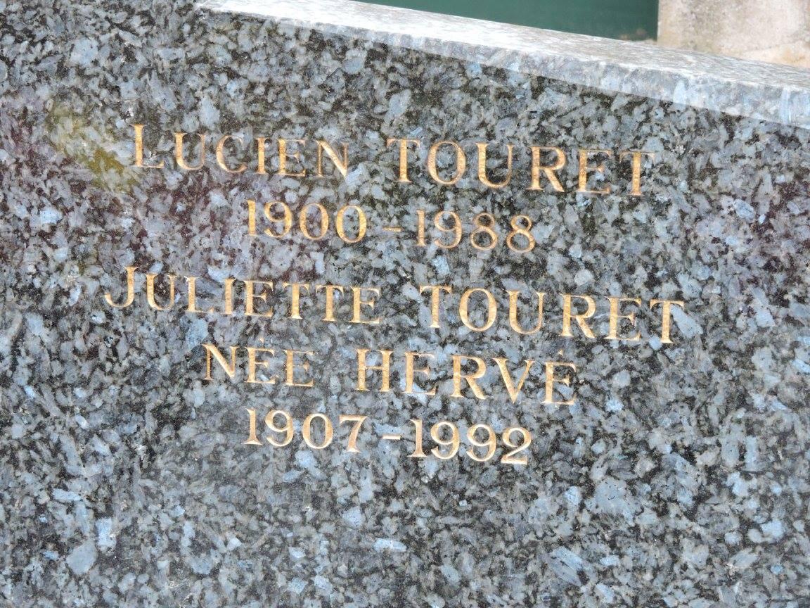Villaines sous Lucé - Cimetière - TOURET Lucien et HERVE Juliette (Chantale Vieux)